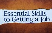Essential skills to get job — Stock Photo