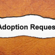 adoption request — Stock Photo