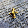 Royalty-Free Stock Photo: Bible and golden cross