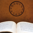 Book and clock — Stock Photo