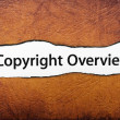 Stock Photo: Copyright overview