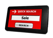 Search for sale online — Stock Photo