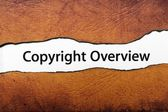 Copyright overview — Stock Photo