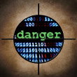 Web danger target - Stock Photo