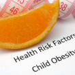 Health risk - child obesity — Stock Photo