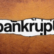 Stock Photo: Bankrupt
