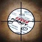Stop piracy target — Stock Photo #24218049