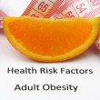Health risks - obesity — Stock Photo