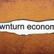Stock Photo: Downturn economic