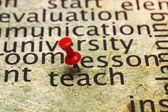 Kavramı öğretmek — Stok fotoğraf