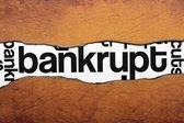 Bankrupt — Stock Photo