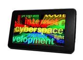 Syberspace on pc tablet — Stock Photo