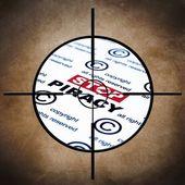 Stop piracy target — Stock Photo