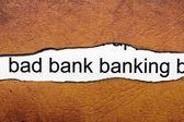 Bad banking — Stock Photo