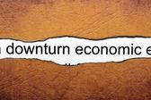 Downturn economic — Stock Photo