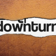 Stock Photo: Downturn