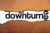 Downturn — Stock Photo