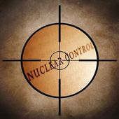 Nuclear control target — Stock Photo