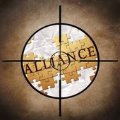 Alliance target — Stock Photo