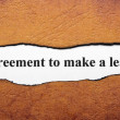 Stock Photo: Agreement to make lease