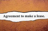 Overeenkomst om lease — Stok fotoğraf