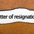 Letter of resignation — Stock Photo