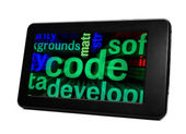 Code op pc tablet — Stock Photo