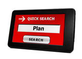 Search for plan — Stock Photo