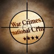 War crimes target — Stock Photo
