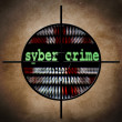 Syber crime target — Stock Photo