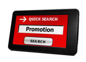 Search for Web promotion — Stock Photo
