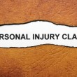 Personal injury claim — Stock Photo