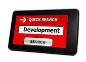 Search for Development — Stock Photo