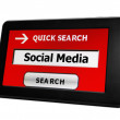 Search for Social media — Stock Photo