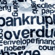 Stock Photo: Bankrupt and overdue concept