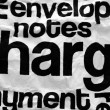 Stock Photo: Charge text on crinkled paper