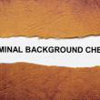 Criminal background check — Stock Photo #24831333