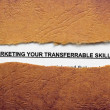 Stock Photo: Marketing your skills