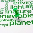 Renewable energy word cloud — Stockfoto