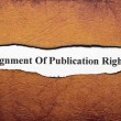 Stock Photo: Assignment of publication rights