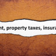 Rent property tax insurance — Stock Photo