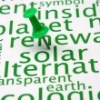 Renewable energy word cloud - Stock Photo