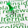 Renewable energy word cloud — Stock Photo