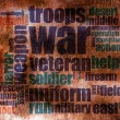 War word cloud — Stock Photo