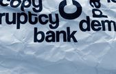 Bank text on crinkled paper — Stock Photo