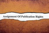 Assignment of publication rights — Stock Photo