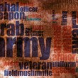 Military word cloud - Stok fotoğraf