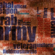 Military word cloud - Lizenzfreies Foto