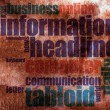 Stock Photo: Information word cloud