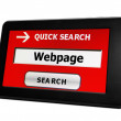 Stock Photo: Search for webpage